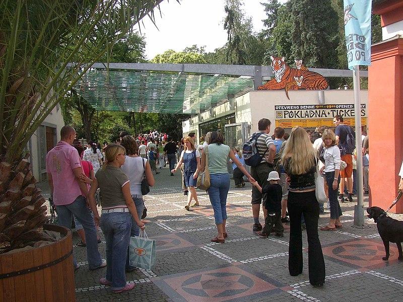 Prague Zoo main entrance.JPG