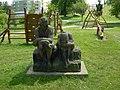 Praha, Kbely, socha Rozum a Cit.JPG