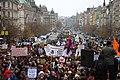 Praha, Václavské náměstí, Demonstrace 2011, zaplněná horní část Václavského náměstí II.jpg