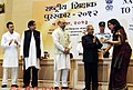 Pranab Mukherjee presenting the National Award for Teachers-2012 to Smt. Himani Asija, CBSE, on the occasion of the 'Teachers Day', in New Delhi. The Union Minister for Human Resource Development.jpg