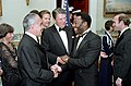 President Ronald Reagan with soccer player Pele and President José Sarney of Brazil.jpg