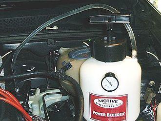 Brake bleeding - Pressure bleeding a brake system