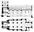Propsteikirche Brilon, Grundriß und Längsschnitt vom Anfang des 20. Jahrhunderts-1.jpg