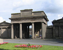 A large gateway in neoclassical style