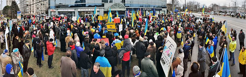 Ukraine Protest in Canada