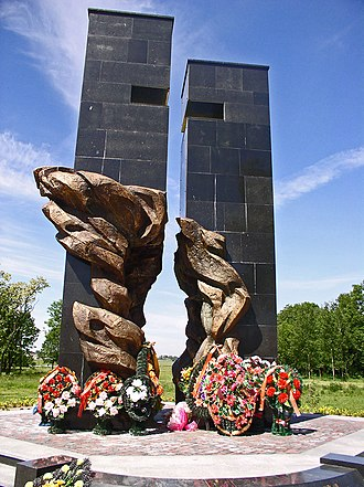 Pruzhany - The war memorial to commemorate the villages of the Pruzhany District burnt to ashes by Nazis in the last war