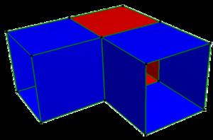 Skew apeirohedron - Image: Pseudo platonic cubic polyhedron vertex