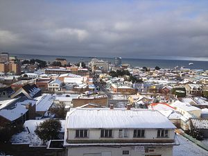 Patagonia - View of Punta Arenas, Chile in midwinter
