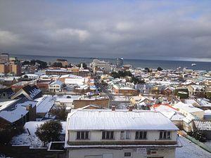 Patagonia - View of Punta Arenas, Chile in midwinter