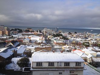 Punta Arenas - Snow in winter