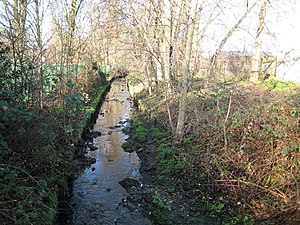 Beverley Brook - The Pyl Brook in North Cheam