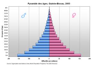 Demographics of Guinea-Bissau - Image: Pyramide Guinee Bissau
