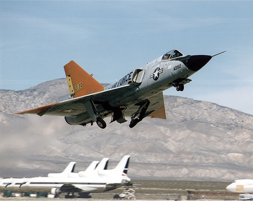 QF-106 aircraft taking off
