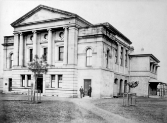 Supreme Court of Queensland - Image: Queensland State Archives 2705 Rockhampton Supreme Court corner East and Fitzroy Streets Rockhampton c 1890