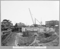 Queensland State Archives 3461 North anchor pier and excavation and timbering for falsework under north anchor arm Brisbane 16 April 1937.png