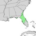 Quercus chapmanii range map 1.png