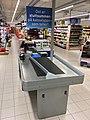 REMA 1000 Supermarket interior grocery store Tønsberg, Norway 2017-11-03 cashier checkout c.jpg