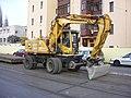 Rašínovo nábřeží, kolejový bagr Atlas 1404 ZW.jpg