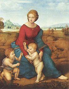 『 ベルヴェデーレの聖母(牧場の聖母)』/wikipediaより引用