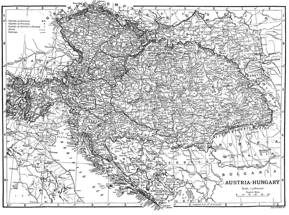 Railway map Austria-Hungary