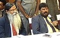 Ramdas Athawale addressing a press conference, in Hyderabad, Telangana on January 22, 2017, The Additional Director General of PIB Hyderabad, Dr. P.J. Sudhakar is also seen.jpg
