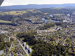 Ringerike (municipality) - Town of Hønefoss