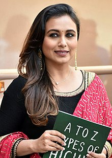 Rani Mukerji looks directly at the camera