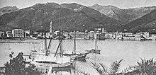 Il litorale rapallese in una fotografia di inizio XX secolo