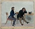 Raphael and Daniel O' Connell crying. Coloured lithograph by Wellcome V0050215.jpg