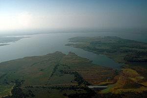 Lake Ray Roberts - Aerial view of Ray Roberts