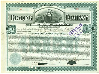 Reading Company - Gold Bond of the Reading Company, issued 19. June 1902