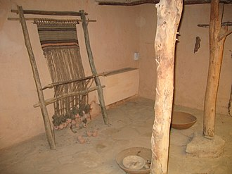 Four room house - A reconstructed Israelite house, Monarchy period, 10th-7th centuries BC, Eretz Israel Museum, Tel Aviv, Israel