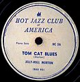 Record Label Hot Jazz Club of America, Tom Cat Blues.jpg