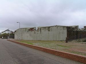 Queen's Royal Hussars - The Eastbourne Redoubt South Seaward facade