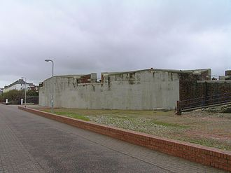 Royal Sussex Regiment - The Eastbourne Redoubt South Seaward facade