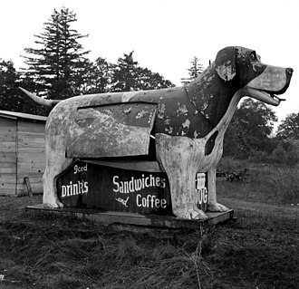 Oregon Route 99 - Refreshment stand on US highway 99 in Oregon, 1939
