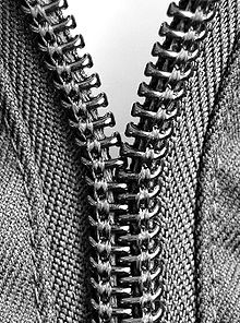coil zipper with its slider removed.