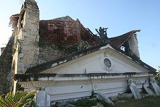 Loay, Bohol - Image: Remains of Loay church post 2013 earthquake 01