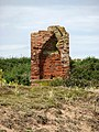 Remains of a brick building - a chimney breast - geograph.org.uk - 909228.jpg