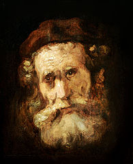 Study of the head of a bearded old man