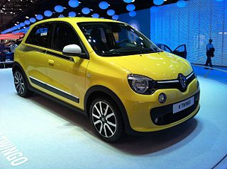 Renault Twingo Four passenger city car manufactured by Renault