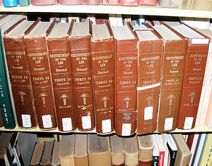 English: The Restatement of Torts at the law l...