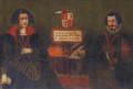 Retratos de D. João Manuel e de D. Isabel de Mendonça, 3.os Senhores de Cheles (séc. XVII) - Palácio Ficalho, Serpa.png