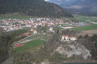 Rhäzüns - Rhäzüns Schloss and Rhäzüns village