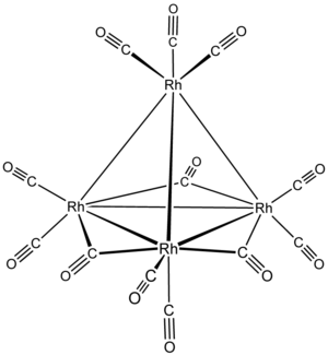 IUPAC nomenclature of inorganic chemistry 2005 - Image: Rh 4(CO)12