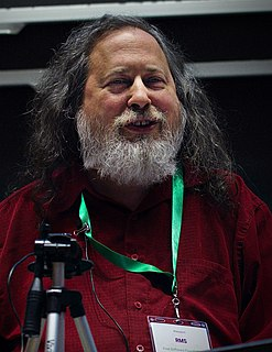 Richard Stallman American software freedom activist, short story writer and computer programmer, founder of the GNU project