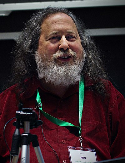 Richard Stallman, American software freedom activist, short story writer and computer programmer, founder of the GNU project