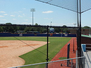 Husky Field (softball) - Image: Right field from grandstands at Husky Field Softball
