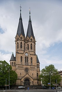 Ringkirche church building in Wiesbaden, Germany
