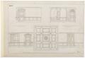 Ritning, inredning till vapenrummet, Hallwylska palatset - Hallwylska museet - 102159.tif